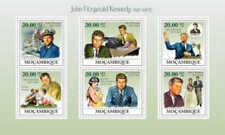 Mozambique - John F Kennedy 6 Stamp  Sheet 13A-269