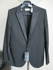 d78b91af36a New Authentic SAINT LAURENT Iconic Le Smoking Jacket In Black Ysl F42-Us 10