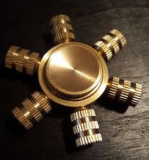 6 Point Brass Hand Spinner Tri Fidget EDC Focus Gyro - AGES 14+ RM4394