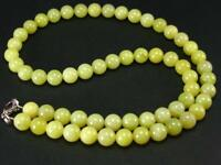 """RARE HEALERITE NECKLACE FROM USA - 18"""" - 8mm ROUND BEADS"""