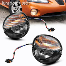 for 2004-2008 Pontiac Grand Prix Clear Front Bumper Fog Lights Lamps+Bulbs PAIR