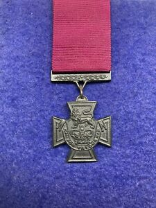 VICTORIA CROSS REPLICA. Full-size, with Ribbon And Mounted On Board. Free P&P.