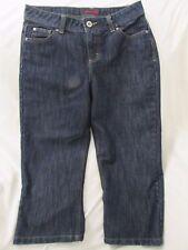 """Ladies """"Wranglers"""" Size 6M (W30 X L21) Blue, Cotton / Polyester Blend, Capris"""