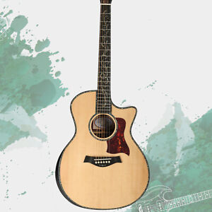 PS14 Solid Top Acoustic Guitar Bone Nut&Saddles Abalone Inlay Ebony Fingerboard
