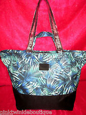 Victoria's Secret PiNK Tote Bag Large Overnight Tropical Fern NWT