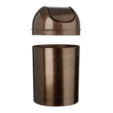 Small Trash Can With Lid Bedroom Room Bathroom Waste Swing-Top Waste Can Kitchen