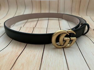 Gucci Belt 80/32 Size Black Pre Owned
