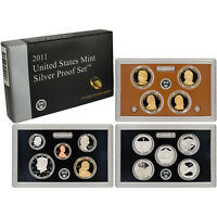 2011 US MINT SILVER PROOF SET - BOX, COA 14 COINS