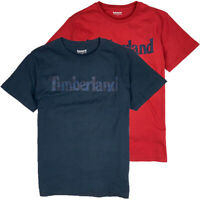 Timberland Men's Short Sleeve Camouflage Linear Logo T-Shirt A1Y4K