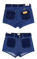 WRANGLER by PETER MAX RETRO SHORTS DENIM HIGHT WAISTED JEANS HOT PANTS ALL SIZES