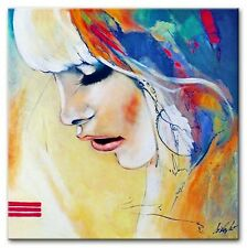 Modern. Art - 100x100cm-Ölbild handgemalt Leinwand Signiert G94724