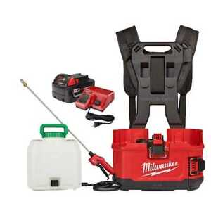 Milwaukee 2820-21PS M18 Switch Tank Backpack Sprayer Kit 5.0 Ah Battery NEW