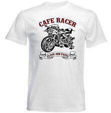 VINTAGE ITALIAN MOTORCYCLE MOTO GUZZI CAFE RACER - NEW COTTON T-SHIRT