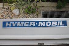 ALU SCHILD mit Aufschrift HYMER-MOBIL für OLDTIMER Camper alu metal BADGE PLAQUE
