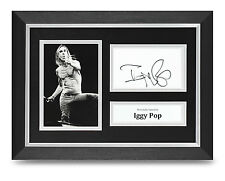 Iggy Pop Signed A4 Photo Framed The Stooges Memorabilia Autograph Display + COA