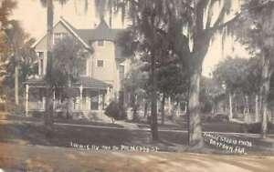 Daytona Florida Loomis RV and South Palmetto St Real Photo Postcard AA38576