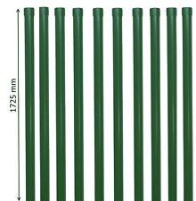 10 Zaunpfosten 1725 mm Zaunpfahl grün Pfosten 34mm für Metallzaun Schweißgitter