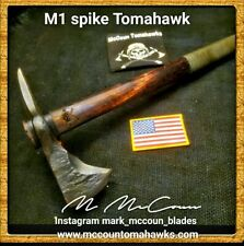 HAND FORGED M1 SPIKE TOMAHAWK BY MARK MCCOUN  USA MILITARY