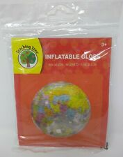 Teaching Tree Transparent Inflatable Globe - 11.5 inches  Earth Sphere Ball, NEW
