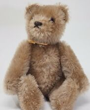 """Small Artist Made Mohair Jointed Bear Vintage 1950's Glass Eyes 6"""""""