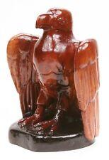 Vintage Carved Wood Eagle Hawk Folk Art Wooden Carving Statue Military Old