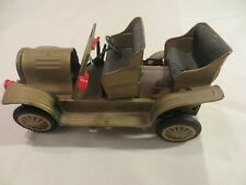 Vintage tin toy battery operated car.