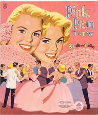 VINTGE 1956 PINK PROM TWINS 8 DOLL PAPER DOLL  ~HD LASER REPRO~Orig. Size Uncut