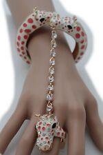 Women Gold Metal Bling Hand Chain Fashion Bracelet Slave Ring Girrafe Animal Hot