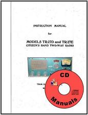 Tram 23 Tr-27D Tr-27E Cd Owner'S Manual + Schematic Cb Radio Book on Cd