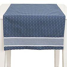 Estrella Azul VICHY ENCAJE 100% Algodón 50 x 140cm – 50.8cm Camino de mesa