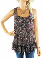 Semi Fitted Casual Floral Sleeveless Tops & Shirts for Women