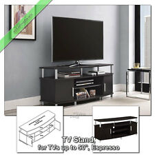 50 Inch TV Stands for Flat Screens Carson TV Stand Media Console Table, Espresso