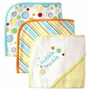 Luvable Friends Hooded Towels, 3-Pack, Yellow