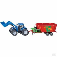 Siku New Holland With Strautmann Trailer 1:50 Scale Model Gift Toy