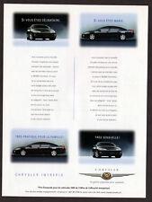 1999 CHRYSLER Intrepid Vintage Original Print AD Black car for married or single