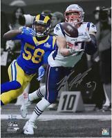 "Rob Gronkowski New England Patriots Signed 16"" x 20"" Super Bowl LIII Catch Photo"