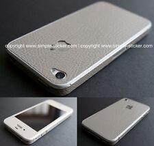 iPhone Aufkleber / Sticker. 3D Lederstruktur, grau. Für iPhone  4 / 4S / 5/5S/SE