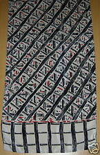 Womens Scarf Black, Red White Bold Pattern VERY NICE!