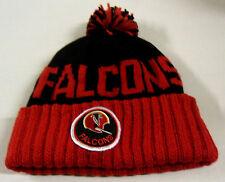 NWT NFL Atlanta Falcons Mitchell & Ness Throwback Pom Cuffed Knit Hat Beanie Cap