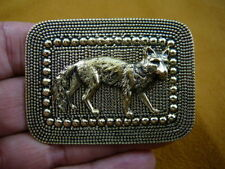 (b-fox-200) Fox wild dog coyote brass pin pendant sly foxes sneaky