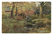 The Brook & Bridge - Somersby Photo Postcard c1910 / Horncastle