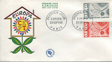 FRANCE FDC - 550 1455 1456 1 EUROPA - PARIS 25 Septembre 1965 - LUXE