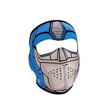 Small Child Size Blue Transformer Robot Reversable Neoprene Face Mask Costume