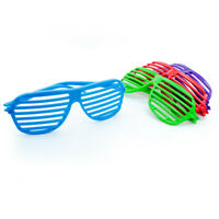 Bright Colourful Shutter Sunglasses Glasses Party Fancy Dress 12 Pack