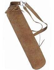 FINE SUEDE TANNED BACK ARROW QUIVER ARCHERY PRODUCTS AQ-110.