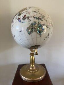 Kalifano Gemstone World Globe - 22 Inches