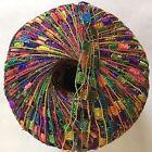 Sparkling Rainbow Mini Ladder Glitz Yarn #46694 Ice Multicolor Metallic Ribbon