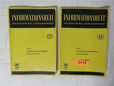 Informationsheft Post- Fernmeldewesen Französisch Wörterbuch Heft 23&24 1959 DDR