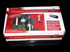 20 Kabellose LED Weihnachtskerzen mit Fernbedienung, warmweiße LED.s, Timer, NEU