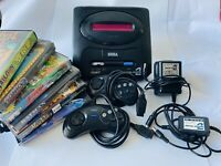 Original SEGA Mega Drive 2 ~ Tested - X2 Controllers + Power&TV Cords + 6 Games